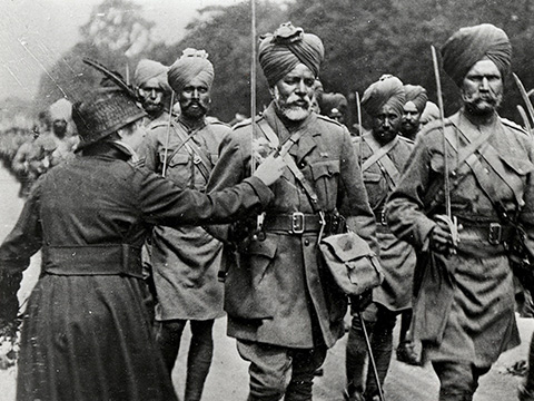 Their long tradition as warriors meant that, in 1914, India's Sikhs went to war by the tens of thousands; fighting and dying for Britain