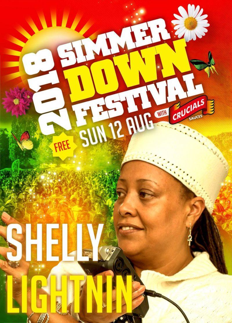 Shelly Lighnin will be performing at the Simmer Down Festival in Birmingham