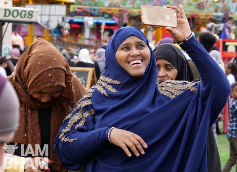 Eid celebrations in Small Heath Park in Birmingham