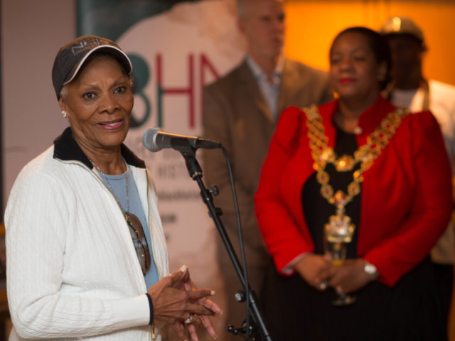 Singing sensation Dionne Warwick with Birmingham Lord Mayor Yvonne Mosquito at a private launch of Birmingham Black History Month 2018