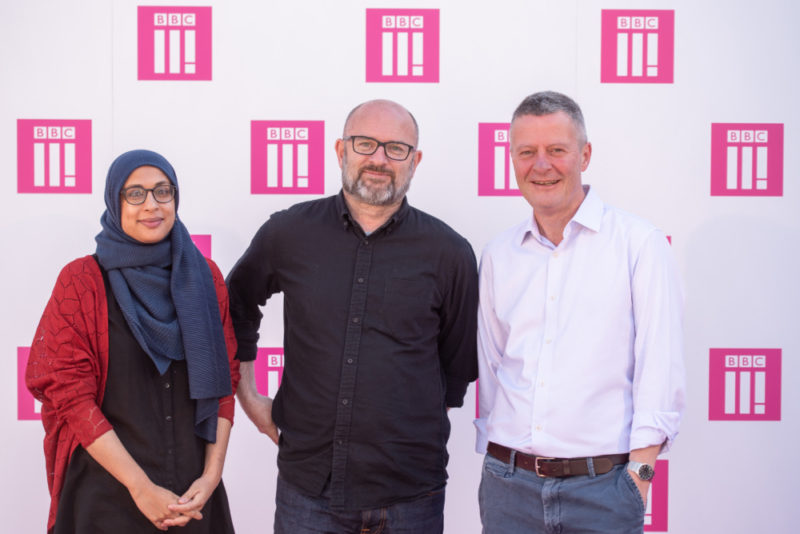 BBC Three Day - Nasfim Haque, Damian Kavanagh and Director BBC Midlands Joe Godwin