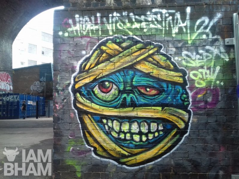 New street art has been appearing in Digbeth all week to coincide with the launch of Birmingham's first ever High Vis Fest