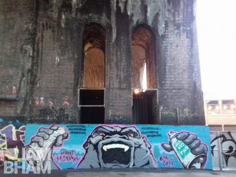A depiction of Birmingham's classic King Kong has appeared under the Digbeth arches this week, courtesy of artist Wingy
