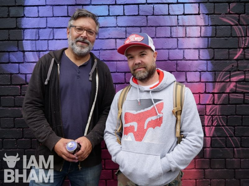 Renowned street artists N4T4 (left) and Simon 'Wingy' Wingfield (right), both co-organising High Vis Fest 2018