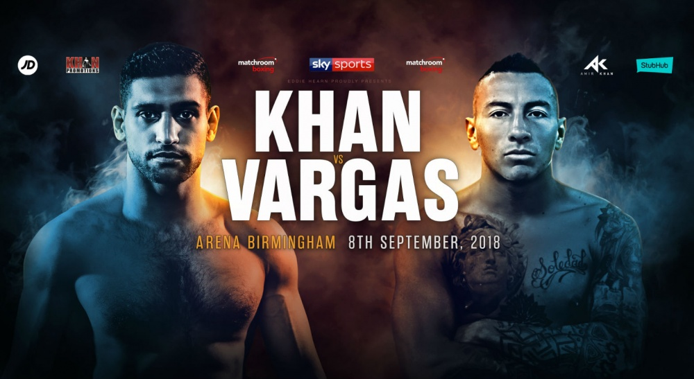 Amir Khan to face Samuel Vargas in Birmingham in September