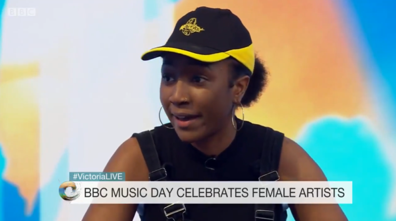 Birmingham music star Lady Sanity appeared on Victoria Derbyshire to discuss the representation of women of colour in music during BBC Music Day