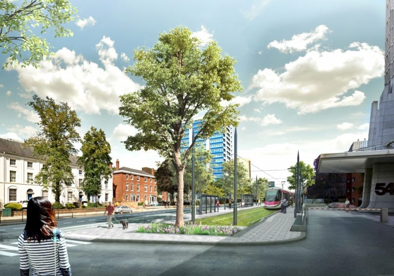 Construction for the first phase of the Birmingham Westside extension to Centenary Square is already underway and passenger services are planned to commence in 2019/2020