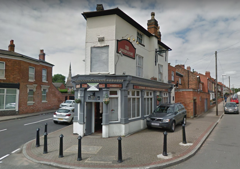 The Observatory pub in Lozells via StreetView