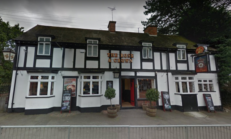 The Rose and Crown pub in Halesowen