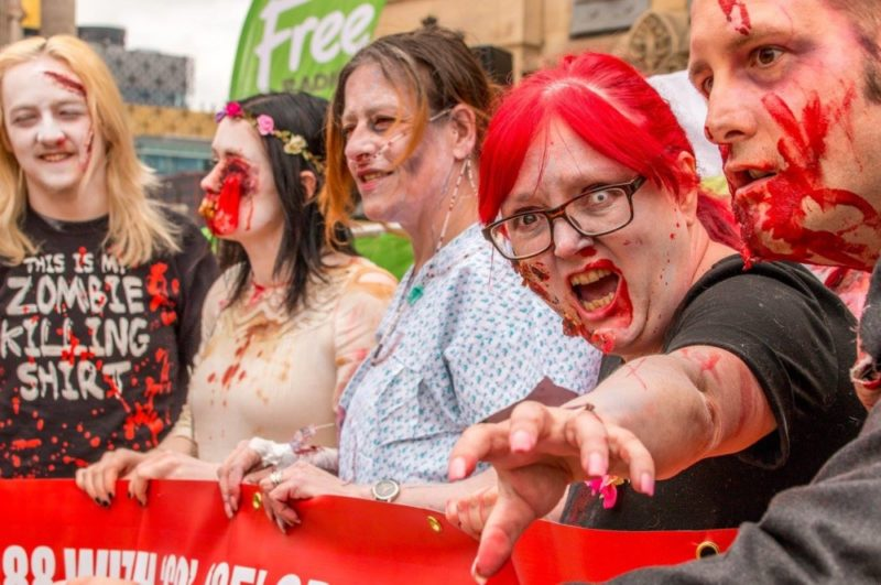 Attendees dressed up and ready at the Birmingham Zombie Walk 2016