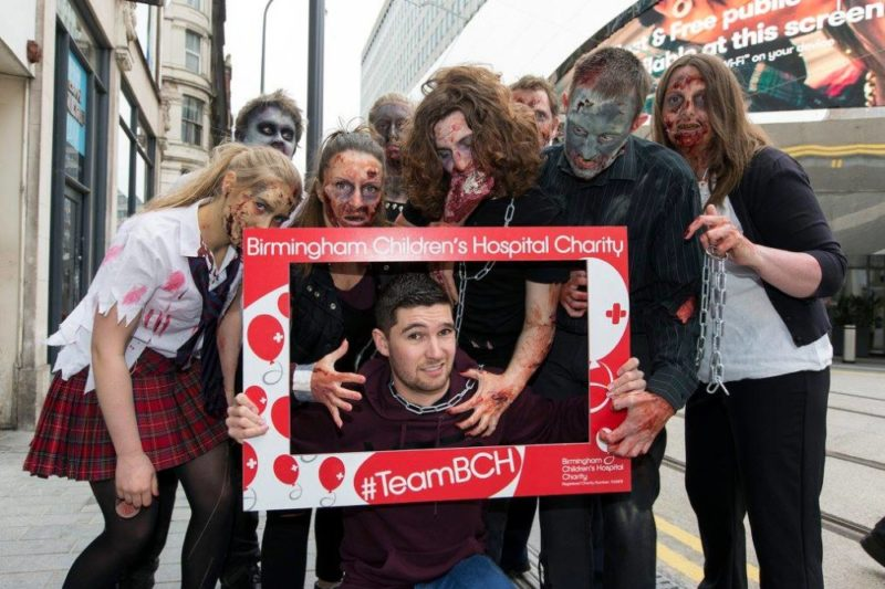 The Birmingham Zombie Walk was founded in 2009 by Jamie Chapman (centre)
