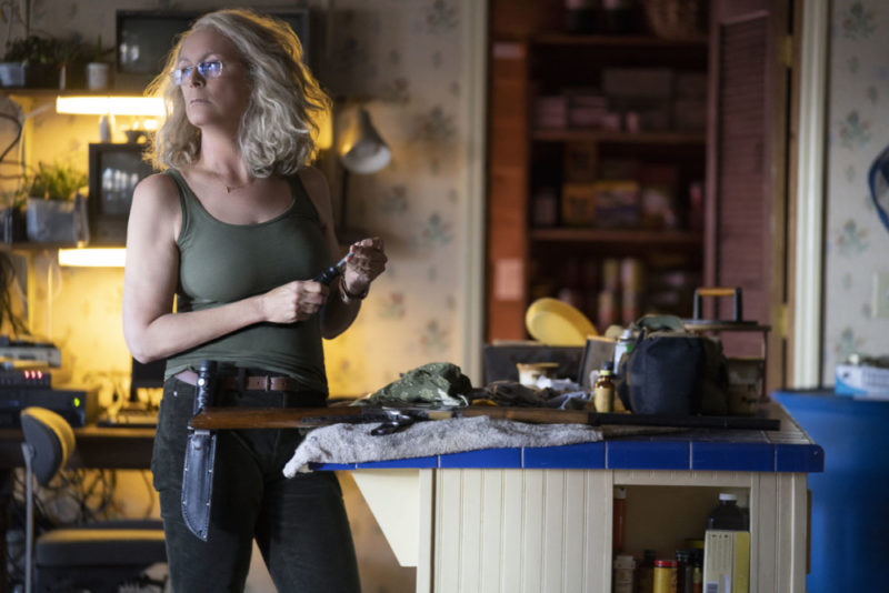Laurie Strode (Jamie Lee Curtis) is scared of no man or monster in Halloween