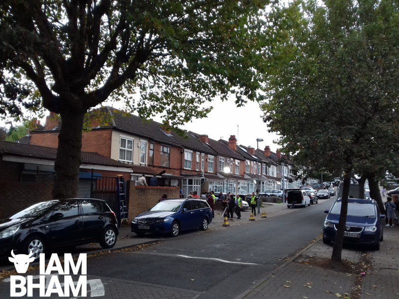 Aubrey Road in Small Heath remained open to traffic as filming took place on 'Man Like Mobeen'