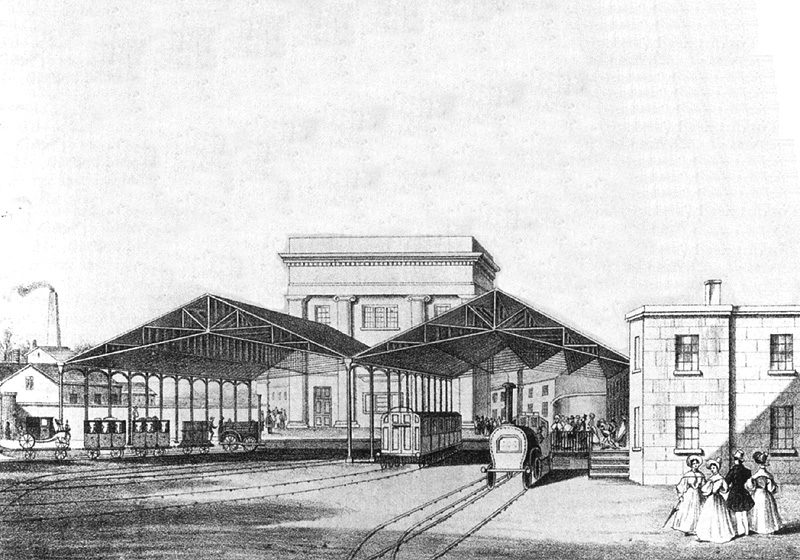Birmingham Curzon Street Station in 1838
