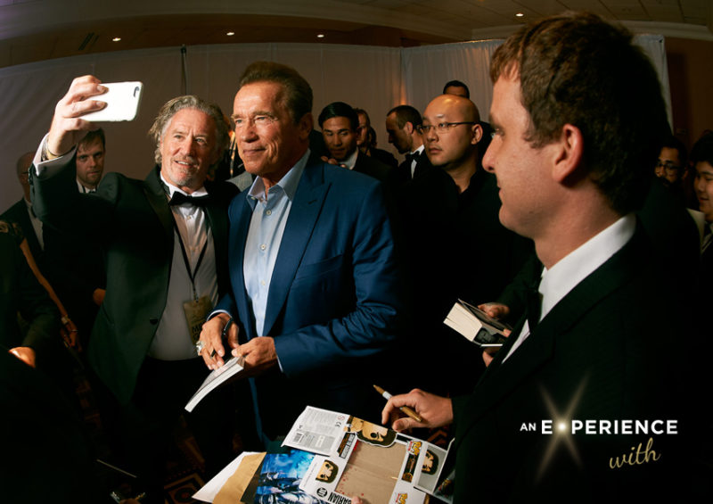 Actor Arnold Schwarzenegger in Birmingham at a previous AEW event