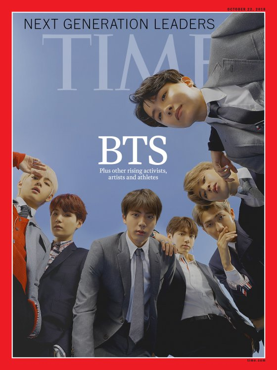 Boy band BTS on the cover of TIME magazine