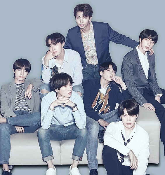 Boy band BTS are hugely popular international K-Pop stars