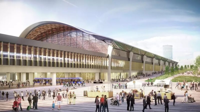 The £57billion rail project is due to open with seven high speed platforms in 2026