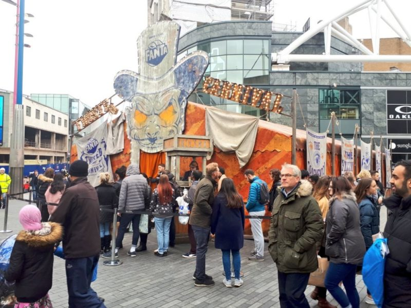 The Twisted Carnival tent is situated in the Bullring and Grand Central