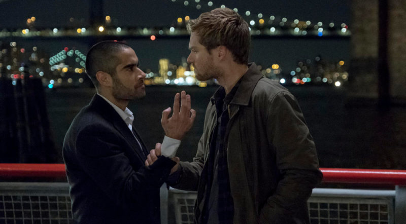 Finn Jones and Sacha Dhawan in Iron Fist
