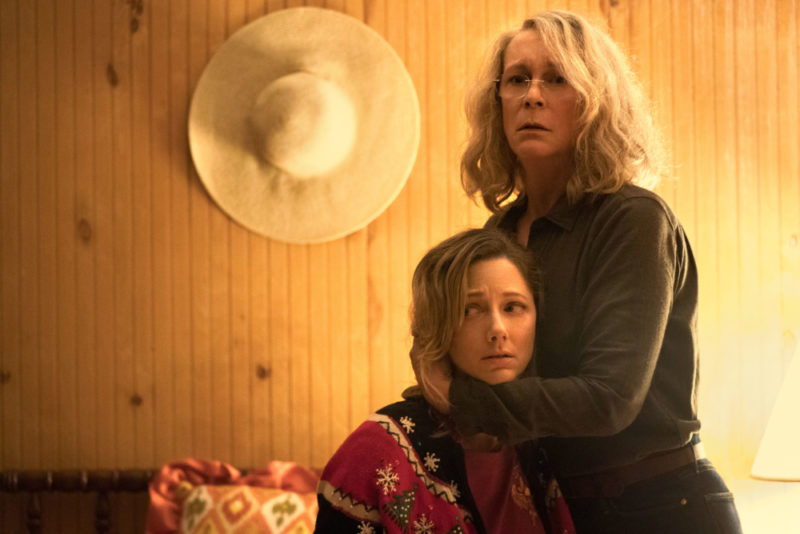 Judy Greer plays Karen Nelson, Laurie Strode's daughter in Halloween