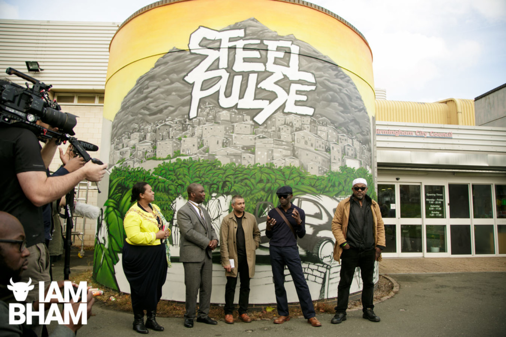 Steel Pulse Mural recognising Revolution in Music unveiled in Handsworth