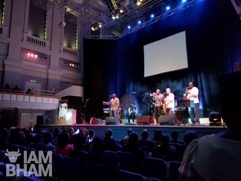 Local band Musical Youth perform at the 2018 Birmingham launch of Black History Month