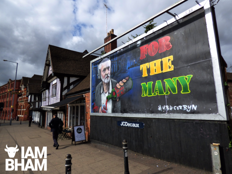 Despite being taken down the Jeremy Corbyn billboard became a talking point on social media