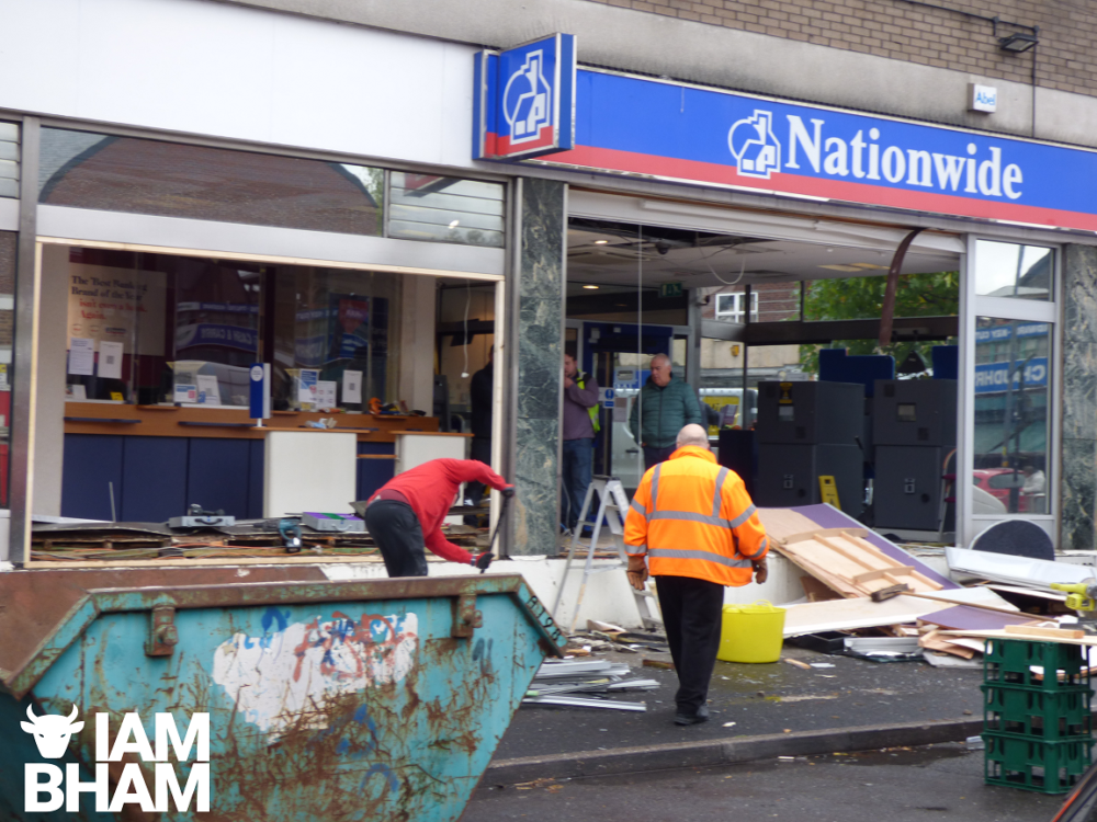 Criminals ram-raid into Small Heath building society in early hours