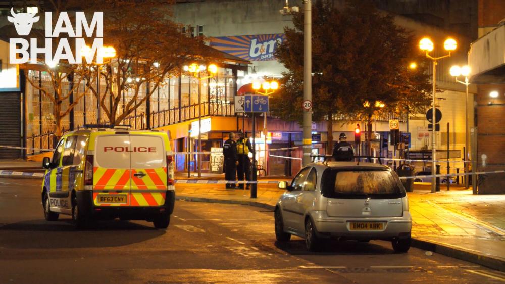 VIDEO: Three men stabbed in Birmingham city centre, near McDonald's restaurant