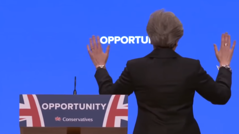 Theresa May looking to the future at the Conservative Party Conference in Birmingham