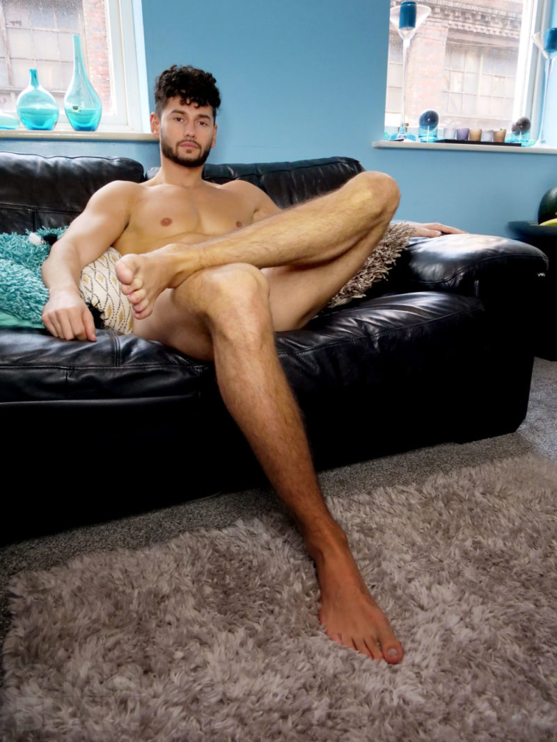 Duka Cavolli from Birmingham poses naked for Movember