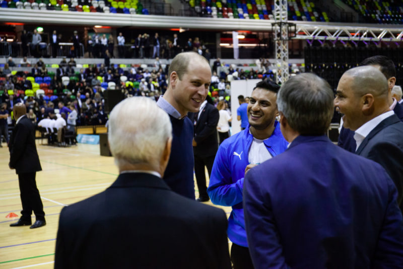 HRH Duke of Cambridge with Football for Peace co-founder Kashif Siddiqi in London