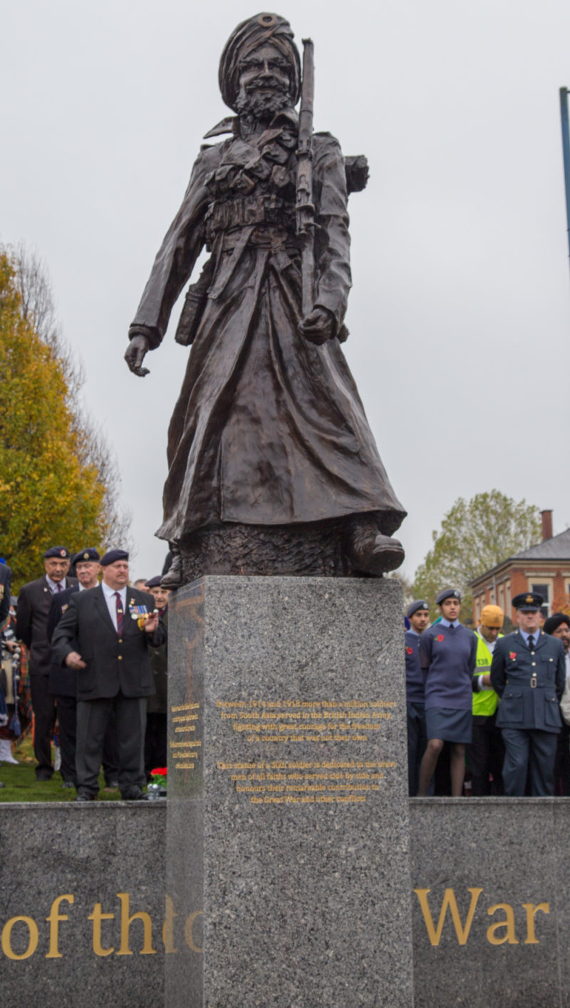 The new 'Lions of the Great War' statue stands tall in Smethwick