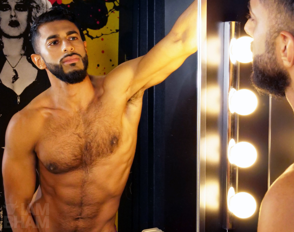 IN PICTURES: Khalifah Ilyas strips for Movember to raise awareness of men's health issues [NSFW]