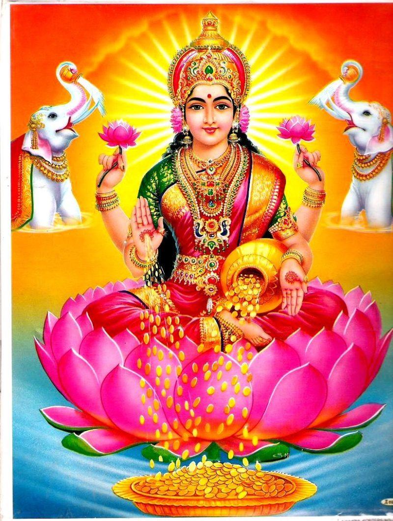 Goddess Lakshmi is revered and celebrated during Diwali festivities