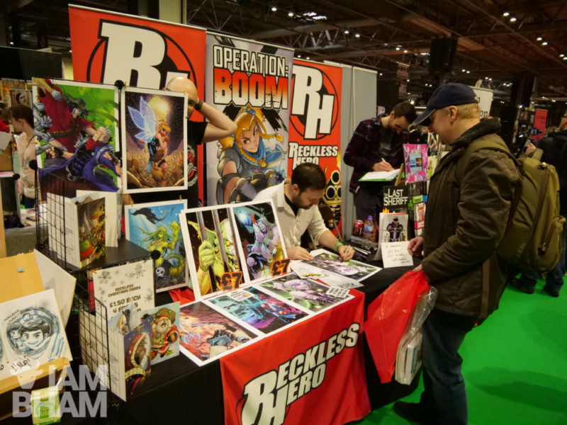 Comics stall at MCM Comic Con in Birmingham