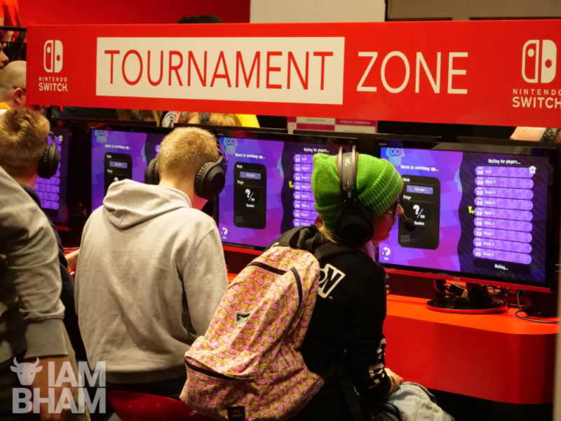 Gaming tournaments and interactive gameplay at MCM Comic Con in Birmingham