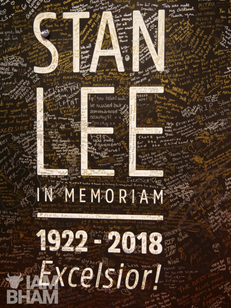A tribute to Stan Lee at the Birmingham MCM Comic Con