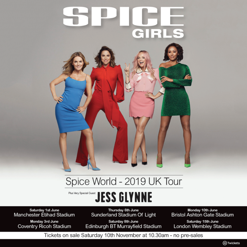 Spice Girls UK Stadium Tour 2019