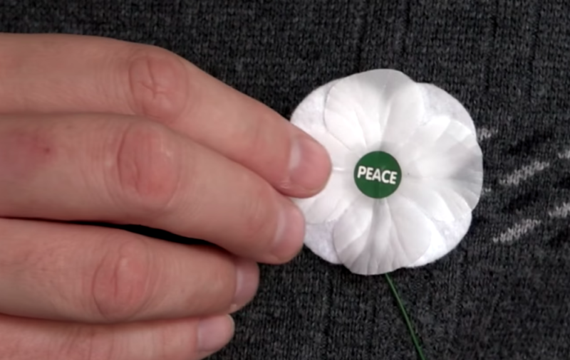 White poppies are promoted by the Peace Pledge Union