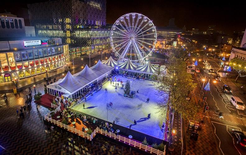 The Christmas 'Big Wheel' and ice rink will be located at Eastside City Park, near Birmingham City University and Millennium Point