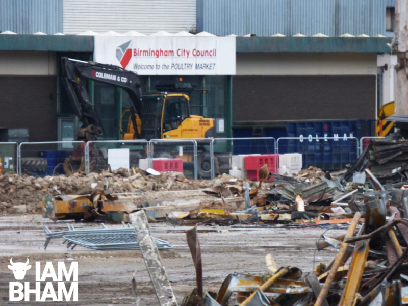 After the new Wholesale Markets opened in Aston the old site in the Bullring is being demolished