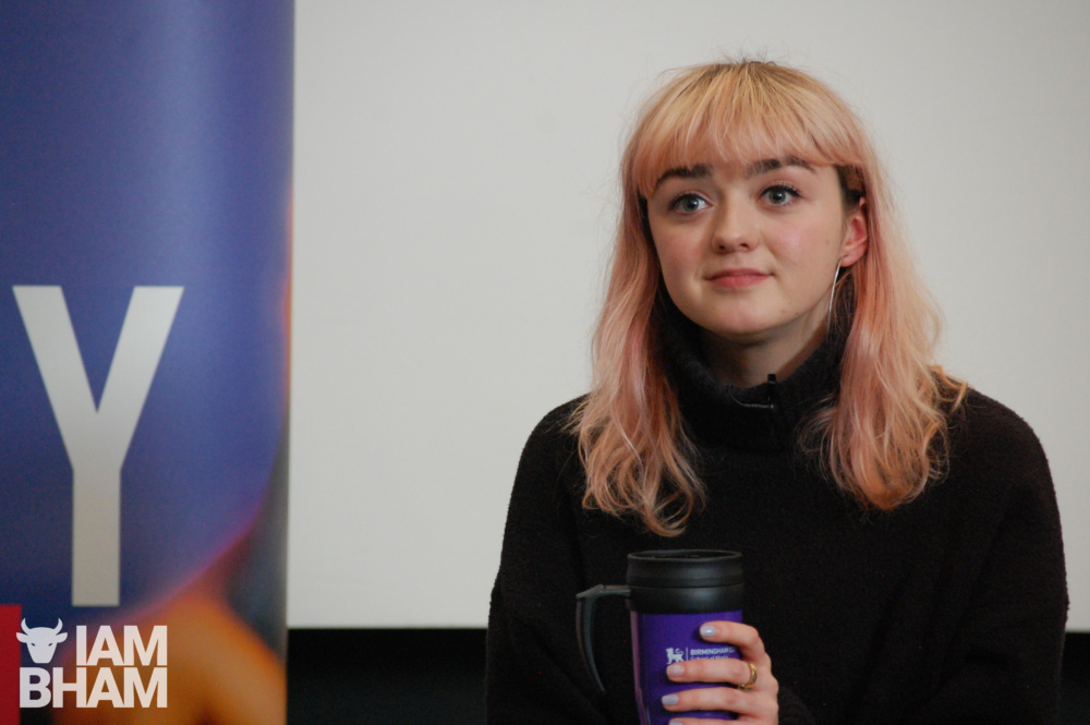 What was Game of Thrones star Maisie Williams doing at a Birmingham university?