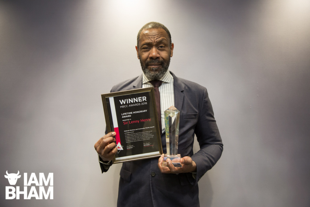 Lenny Henry receives Lifetime Honorary Award in Birmingham
