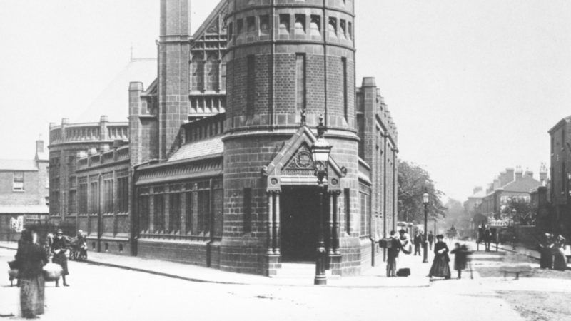 A historic photo of the Green Lane Masjid building