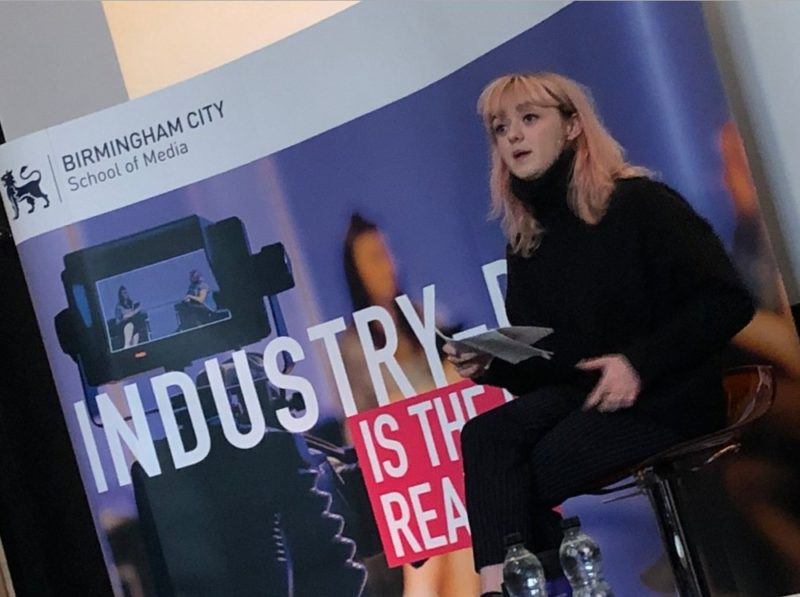Game of Thrones star Maisie Williams at Birmingham City University (BCU)
