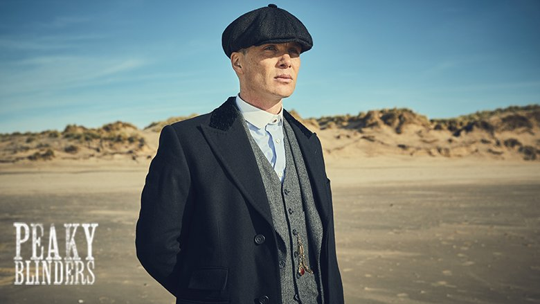 Publicity photo of Cillian Murphy as Tommy Shelby for series 5 of Peaky Blinders