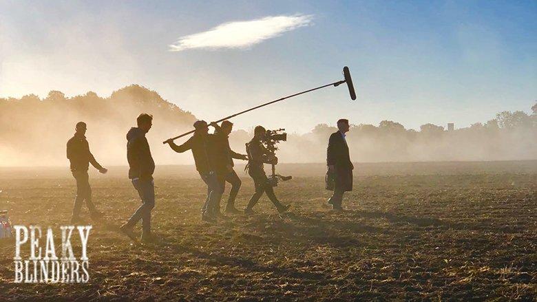 Filming on series 5 of Peaky Blinders