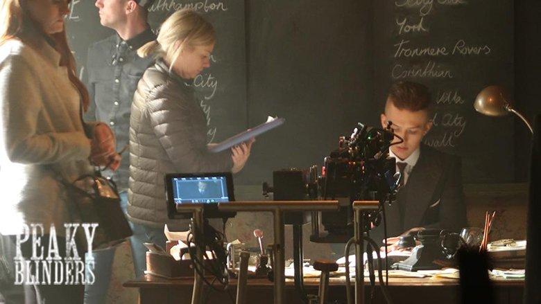 Filming on the set of Peaky Blinders series 5